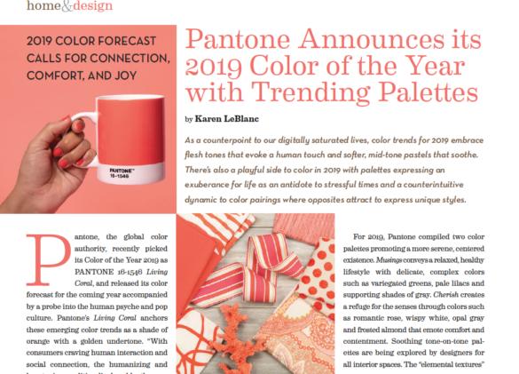 2019 Color Forecast – Karen LeBlanc, Creative Writer